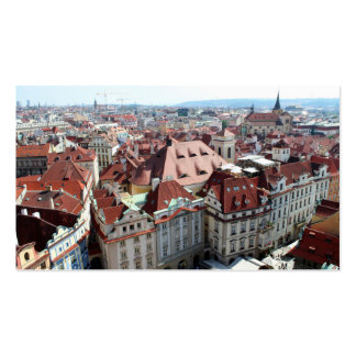 View of Prague in Czech Republic Business Card