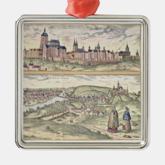 View of Prague showing (above) the Imperial Palace Metal Ornament
