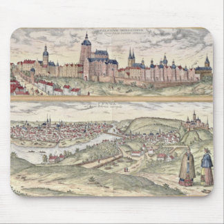 View of Prague showing (above) the Imperial Palace Mouse Pad