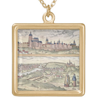 View of Prague showing (above) the Imperial Palace Square Pendant Necklace