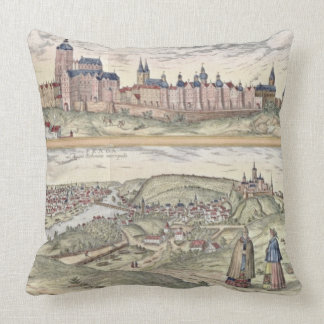 View of Prague showing (above) the Imperial Palace Throw Pillows