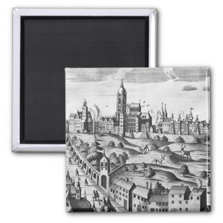 View of Prague showing the Imperial Palace and the 2 Inch Square Magnet