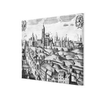 View of Prague showing the Imperial Palace and the Canvas Print