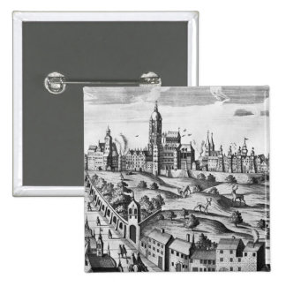 View of Prague showing the Imperial Palace and the Pinback Button