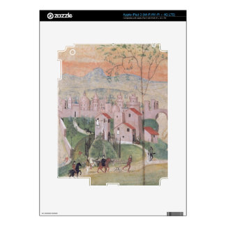View of Prato City, detail from the Crucifixion, f Decals For iPad 3