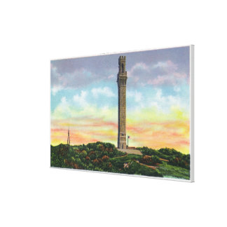 View of Provincetown Pilgrim Memorial Monument Canvas Print