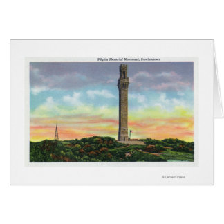 View of Provincetown Pilgrim Memorial Monument Card