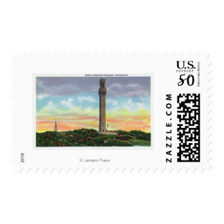 View of Provincetown Pilgrim Memorial Monument Postage