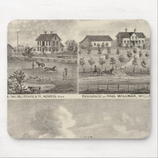 View of Public Park and Residence in Minnesota Mouse Pad