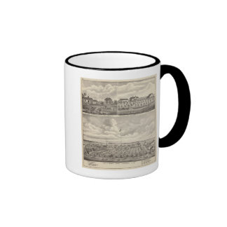 View of Public Park and Residence in Minnesota Ringer Coffee Mug