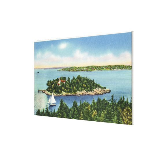 View of Pumkin Knob and Long Island Canvas Print