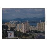 View of Pyongyang, North Korea Greeting Cards