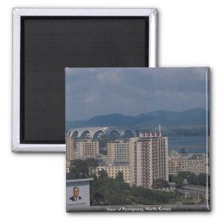 View of Pyongyang, North Korea Magnet