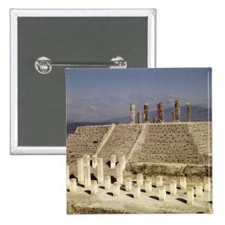 View of Pyramid B, Pre-Columbian Pinback Button