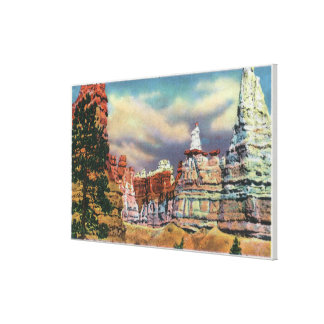 View of Queen Victoria Rock Formation Stretched Canvas Prints