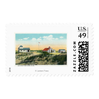 View of Race Point Coast Guard Station Postage