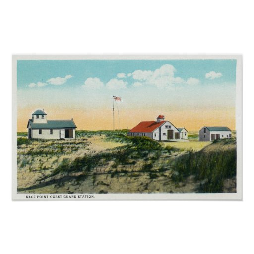 View of Race Point Coast Guard Station Print