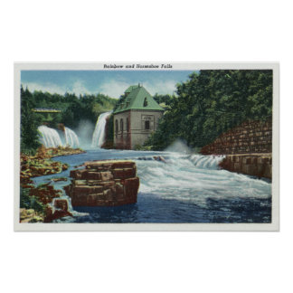 View of Rainbow and Horseshoe Falls Print