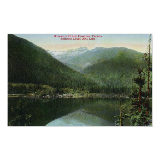 View of Rainbow Lodge and Alta Lake Poster