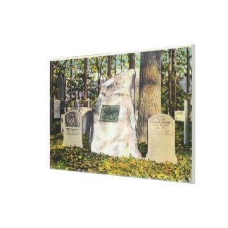 View of Ralph Waldo Emerson Gravestone Canvas Print