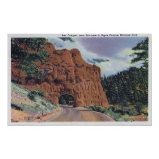 View of Red Canyon, near Park Entrance Print