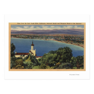 View of Redondo & Hermosa Beaches, California Postcard