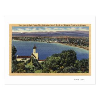View of Redondo & Hermosa Beaches Postcard