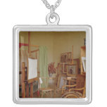 View of Renoir's studio, used from 1907 Square Pendant Necklace