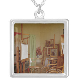 View of Renoir's studio, used from 1907 Silver Plated Necklace