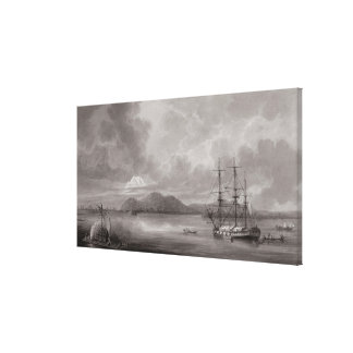 View of Rio de Manila (lithograph) Canvas Print
