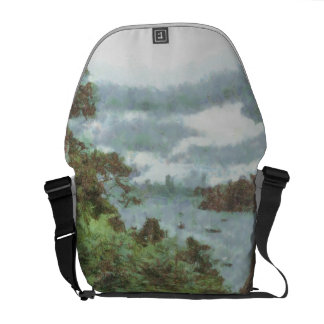 View of river messenger bag