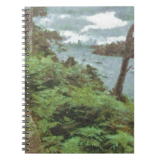 View of river spiral notebook