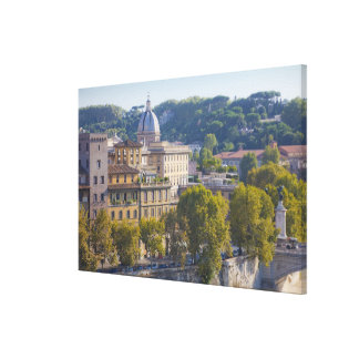 View of Rome from Castel Sant' Angelo Canvas Prints