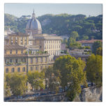 View of Rome from Castel Sant' Angelo Large Square Tile