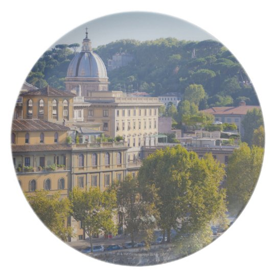 View of Rome from Castel Sant' Angelo Melamine Plate