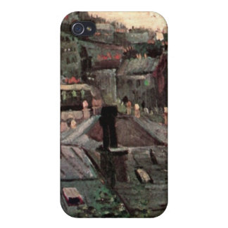 View of Roofs and Backs of Houses by van Gogh iPhone 4 Covers