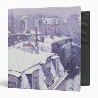 View of Roofs  or Roofs under Snow, 1878 3 Ring Binder