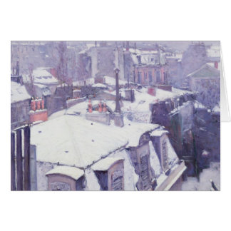 View of Roofs  or Roofs under Snow, 1878 Greeting Card
