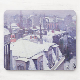 View of Roofs  or Roofs under Snow, 1878 Mouse Pad