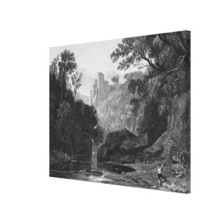 View of Roslin Castle Canvas Print