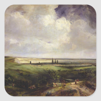 View of Rouen, 1831 Square Sticker