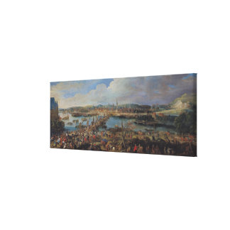 View of Rouen from Saint-Sever c 1715-20 Stretched Canvas Print