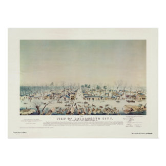 View of Sacramento City during Great Inundation Poster