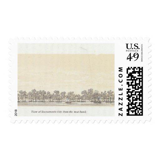 View of Sacramento City Stamps