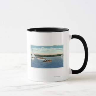 View of Sail and Motor Boats on Owasco Lake Mug