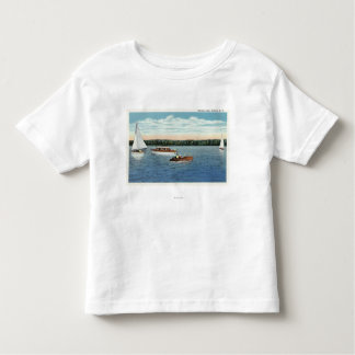 View of Sail and Motor Boats on Owasco Lake Toddler T-shirt