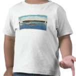 View of Sail and Motor Boats on Owasco Lake Tee Shirts