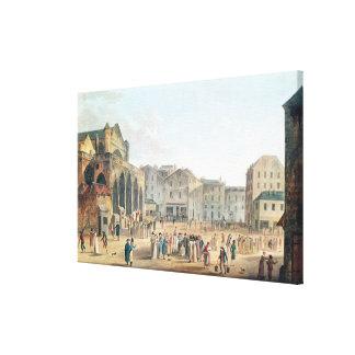 View of Saint-Germain-l'Auxerrois, c.1802 Canvas Print