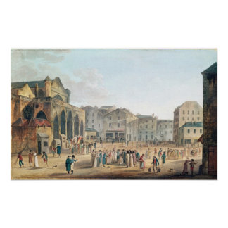 View of Saint-Germain-l'Auxerrois, c.1802 Poster