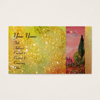 VIEW OF SAINT MARY OF FLOWER / FLORENCE IN SUNSET BUSINESS CARD